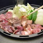 鉄板豚ホルモン焼肉