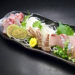 熟成鮮魚の3種盛り