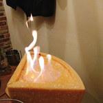 肉バル イノシカチョウ - 燃えるよ
