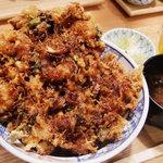 坊野 - ドデカ「かき揚げ丼」!