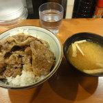 東京チカラめし - 焼き牛丼(並盛り) \280