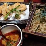 松風 - 筍の天ぷら蕎麦(1100円)