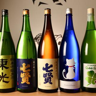 日本酒を中心とした様々なドリンクメニューをお愉しみください