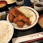 三河屋 - 三河屋(ミックス定食)