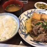 105832029 - ふーみん(牛肉と揚げ豆腐のオイスターソース煮)