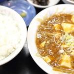 彩花 - 料理写真:麻婆豆腐定食。