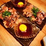 105835879 - 和牛薄切り肉の2口すき焼き