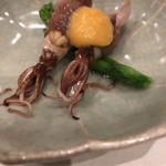 105842127 - 蛍烏賊と菜の花の酢味噌掛け