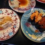 105842552 - 煮アナゴ、ウニ、イクラ