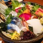 北の味紀行と地酒 北海道 - 北海道彩り刺身盛り