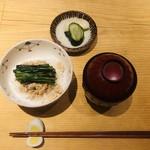 ヨシモリ - 追加 ニラご飯
