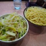 所沢 大勝軒 - もりそば 720円+野菜 120円