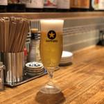 天ぷら酒場KITSUNE - 生ビール