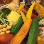ロジウラカレー サムライ - こちらが20種類の野菜&チキン