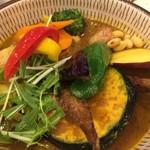 ロジウラカレー サムライ - こちらは13種類の野菜&豚角煮