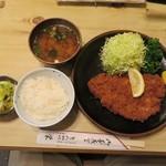 とんかつ 栄 - デンポーク 特上とんかつ定食 2000円