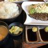 肉料理 さかもと - 料理写真:復刻炭火焼ステーキ定食 1680円(税別」