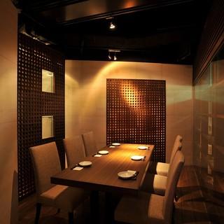 最大40名様まで安心の完全個室でご案内。横浜でのお食事に。