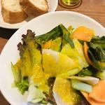 かのん - ランチサラダとパン