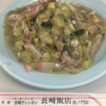 長崎飯店 - 「皿うどん」@900+「チャンポンの麺抜きスープ」@70、のセット