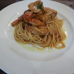 Meat&wine BACCHUS - ランチの渡り蟹のトマトクリームパスタ