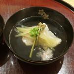 日本料理 太月 - 岩わらび、わらび、あいのめのお椀