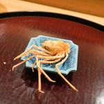 日本料理 太月 - ボタン海老頭揚げ