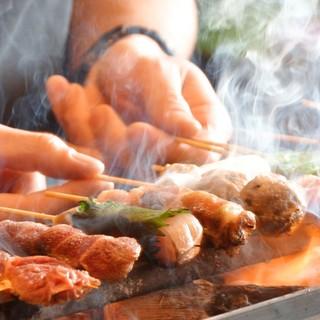 ★新鮮な串を特注の焼き台で!旨味が凝縮した一本♪