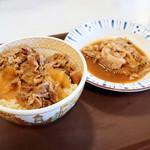 すき家 - 牛丼並盛と、豚皿ミニ
