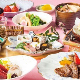 お手頃な御膳から本格会席料理まで選べる、多彩な献立