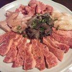 焼肉あばた - 料理写真:注文したお肉達アップ