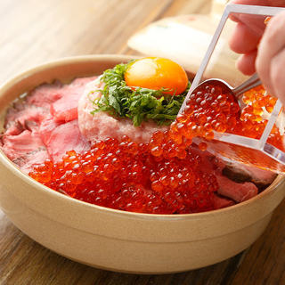 肉と魚の桜土鍋飯&お刺身3点盛付き全9品コース3時間飲み放題