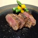 Ginzakuki - 牛肉味噌漬けアスパラ黄身酢