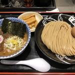松戸富田麺絆 - 半熟味玉濃厚つけめん(並) 1,040円       極太メンマ 150円
