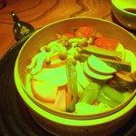 10591744 - あれれ?変な色になっちゃった!!!下手な写真でゴメンなさい!色鮮やかな、美味しいお野菜たちだったんです~~!