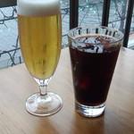 105917333 - グラスビール(630円)&アイスコーヒー(630円)