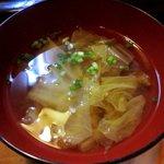 寿司鉄 - 寿司鉄 @平和台 ランチに付くコンソメ風白菜のお吸い物