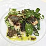 コジト - イサキのグリエ バジルとオリーブ風味