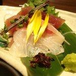 鈴の音 - 冬の鮮魚豪華三種盛り合わせ