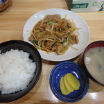 ヨット食堂 - ホルモン焼定食¥600
