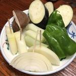 焼肉 わらじ - 焼き野菜