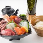 魚太郎 旨いもの屋台 - 料理写真:【1番人気】魚太郎定食