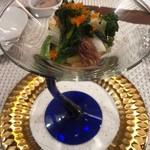 ビストロ ダイア - 富山のホタルイカと青柳貝 タラの芽、こごみ他山菜のマリネ