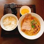 麺屋すみか - 淡麗塩ラーメン・卵かけご飯セット