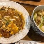 湊庵 - かつ玉定食
