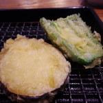 魚がし天ぷら 魚天 - サツマイモ・ピーマン