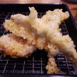魚がし天ぷら 魚天 - 天ぷら定食のシシャモ・かしら