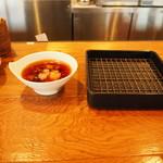 魚がし天ぷら 魚天 - 天つゆと網
