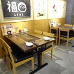お好み焼き・一銭洋食 福○ - お好み焼きもできテーブル席
