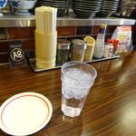 お好み焼き・一銭洋食 福○ - カウンター席で待つこと、7分